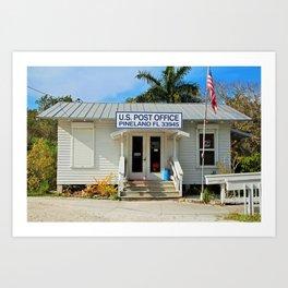 Pineland Post Office II Art Print