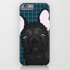 Black Frenchie iPhone 6s Slim Case