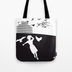 The Black Collection' Birds Tote Bag