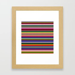 Knitted colorful lines Framed Art Print