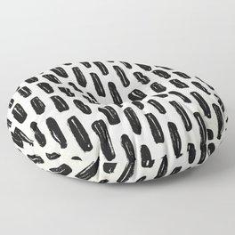 Ivory Vertical Dash Floor Pillow