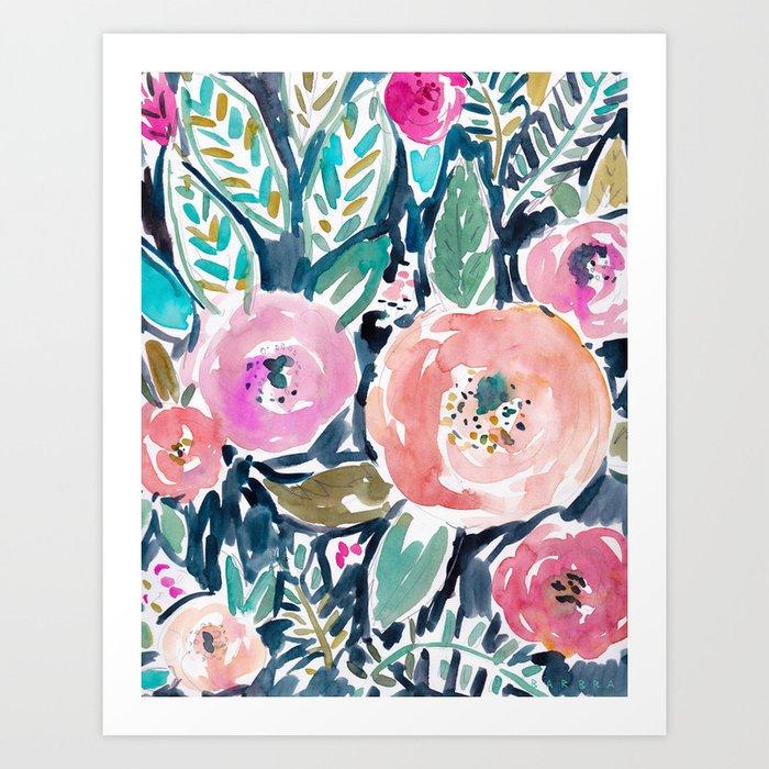 GARDENS OF CAPITOLA Watercolor Floral Art Print