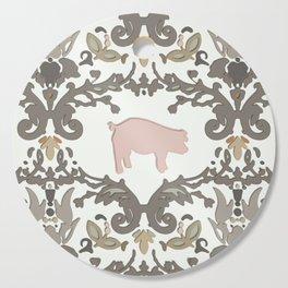 pig damask Cutting Board