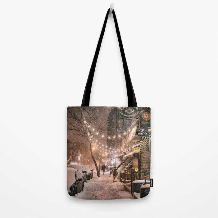 Snow - New York City - East Village Tote Bag