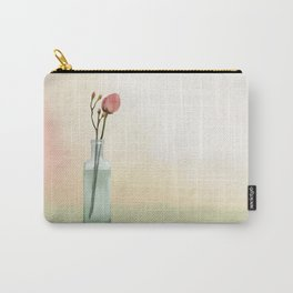 Flowers in Glass Carry-All Pouch