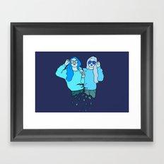 Blue Girls Framed Art Print