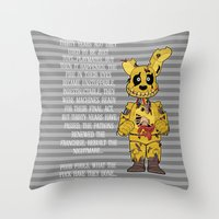fnaf Throw Pillows featuring Poor Little Souls by FrankenPup