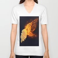 firefly V-neck T-shirts featuring Firefly by Cim Quinlan