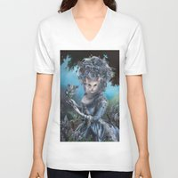 marie antoinette V-neck T-shirts featuring Marie Antoinette by Christina Hess