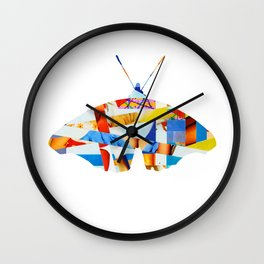 Wayne´s Flying - collab collage Wall Clock