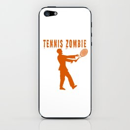 Funny Halloween Tennis Zombie iPhone Skin