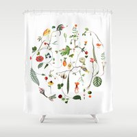 cycle Shower Curtains featuring Cycle by Lindgren & Ekberg