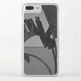 Black and White Palm Clear iPhone Case