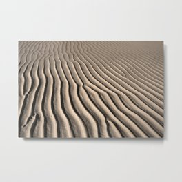 Beach Ripples Metal Print