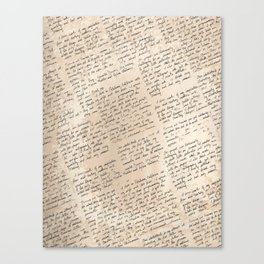 Words Cannot Describe Me Canvas Print