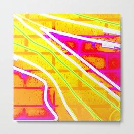 Pop Art Neon Wall Metal Print