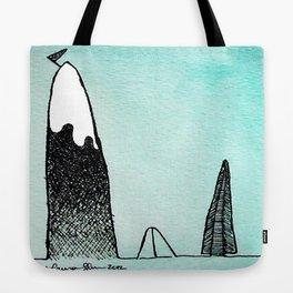 Mountain Climber Camp Tote Bag