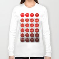 coke Long Sleeve T-shirts featuring Coke Caps by Rose Fuggle