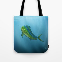 """El Dorado"" by Amber Marine ~ Mahi Mahi / Dolphin Fish Art, (Copyright 2015) Tote Bag"