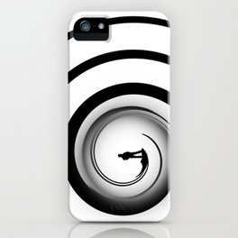 Down The Barrel Black And White iPhone Case