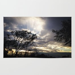 Peaceful and powerful sunset Rug