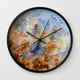 Gentle Shores - Original Abstract Art by Vinn Wong Wall Clock