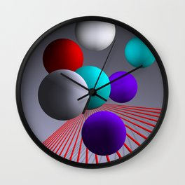 converging lines and balls -2- Wall Clock