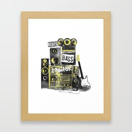 Beats, Bass & Guitar. Framed Art Print