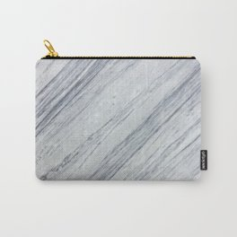 Gray white abstract geometrical stripes marble Carry-All Pouch
