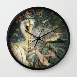 The Loving Pelican Wall Clock