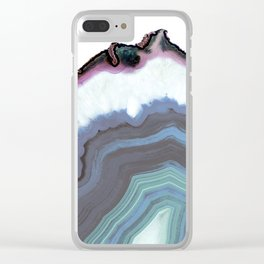 Blue Jeans Agate Clear iPhone Case