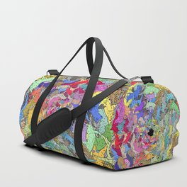 Colorful Rainbow Cats Duffle Bag