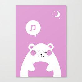 Sound Asleep Bear Canvas Print