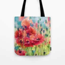 Poppy Parade Tote Bag