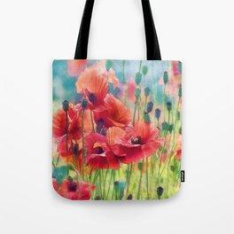 Poppy Parade Tote Bag