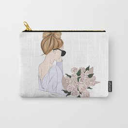 Girl with bouquet Carry-All Pouch