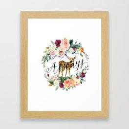 Always - Fawn Framed Art Print