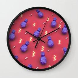 Pineapples Pineapples Pineapples! Wall Clock