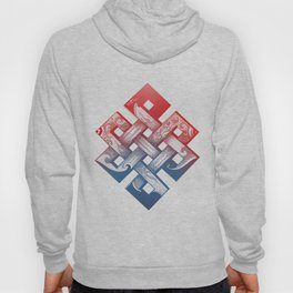 Colored Buddhist knot of eternity Hoody