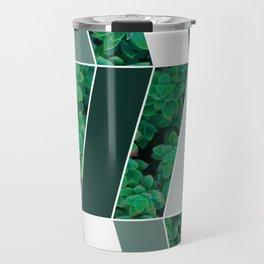 Green Herringbone #society6 #green #succulent Travel Mug