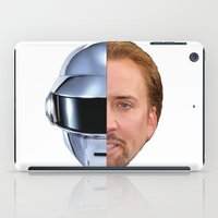 nicolas cage iPad Cases featuring Daft Cage by Jared Cady
