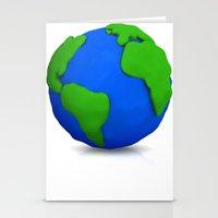 globe Stationery Cards featuring Globe by Tassos Kotsiras