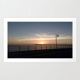 Cagliari's sunset Art Print
