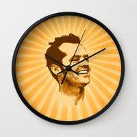 jack nicholson Wall Clocks featuring Nicholson by Durro