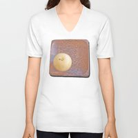 asian V-neck T-shirts featuring Asian Pear by Lyssia Merrifield