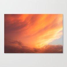 Celestial Fire Clouds Canvas Print