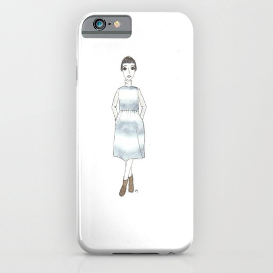 girl in a dress iPhone & iPod Case