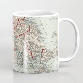 Vintage Map of Massachusetts & Rhode Island (1893) Coffee Mug