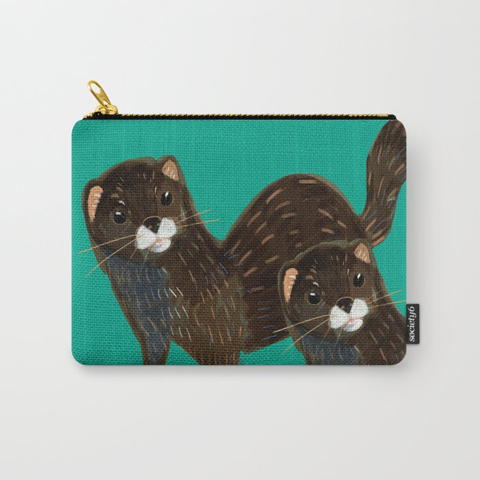 God save the Mink (FIEB) Green Carry-All Pouch