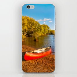 Glenorchy Wharf and pier at golden hour in New Zealand iPhone Skin